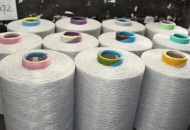 混色涤纶空变丝生产